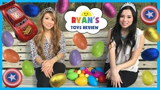Download Easter Eggs Surprise Hunt Playtime at the Park Disney Cars Surprise Toys Challenge Ryan ToysReview Video
