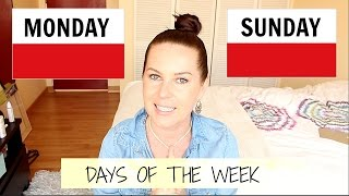 Download DAYS OF THE WEEK , MONDAY-SUNDAY // FREE POLISH LESSON Video