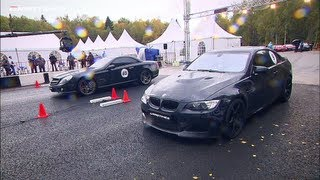 Download Mercedes SL 65 AMG vs BMW M3 ESS vs Porsche 911 Turbo; Nissan GT-R vs BMW M3 ESS Video
