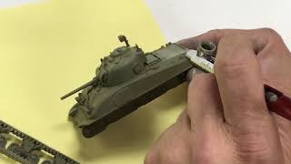 M4A3E8 Sherman Tank Painting & Weathering Free Download Video MP4