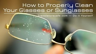 Download How to Properly Clean Your Glasses, Sunglasses or Camera Filters Video