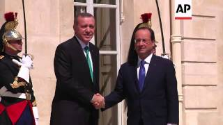 Download Turkish President Erdogan and French President Hollande meets at the Elysee Video