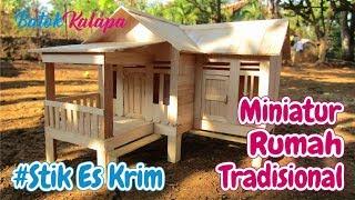 Download Kerajinan Tangan Stik Es Krim | Cara Membuat Miniatur Rumah Tradisional Jawa Barat Video