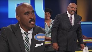 Download Family Feud Contestant Looks JUST LIKE STEVE HARVEY   What's Trending Now Video