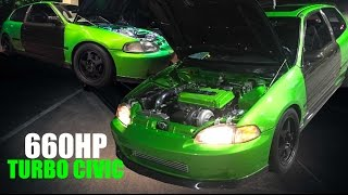 Download 660HP+ TURBO CARBON FIBER CIVIC STREET CAR | Street Series Film Video