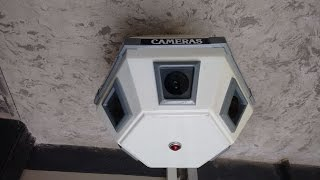 Download Inside a big scary rotating CCTV camera. Video