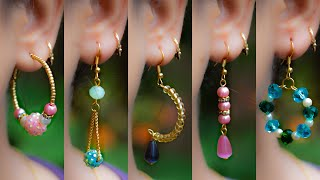 Download 5 easy Pearl & Crystal Earring Design | DIY | 5 min Craft | Hand made jewelry | Crafty Butterfly 015 Video