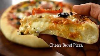 Download Cheese Burst Pizza recipe   Domino's Cheese Burst Pizza   veg pizza recipe Video