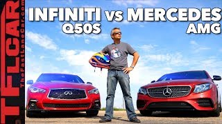Download A Surprising Result for Two Fast Cars (Infiniti Q50S vs E43 AMG) Video