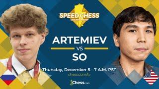 Download Speed Chess Champion 1/2 finale : Wesley So contre Vladislav Artemiev Video