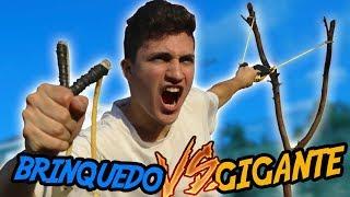 Download ESTILINGUE DE BRINQUEDO VS ESTILINGUE GIGANTE Video