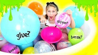 Download Slime Balloon Mystery Challenge! Making Giant Slime with Giant Balloons! Video