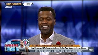 Download UNDISPUTED | Stephen Jackson DEBATE: Right move for Kawhi to pave own path with George's Clippers? Video