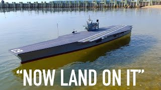 Download R/C Planes Land on R/C Aircraft Carrier Video