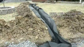 Download DIY How to build a French Drain. How to drain surface water in your yard or property. Video