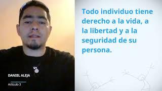 Download Daniel Alejandro Magana Urbina, Mexico, reading article 3 of the UDHR Video