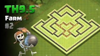 Download Clash of Clans ⚫ TH9.5 Farming Base #2 [2017] ⚫ NO Inferno/3rd Xbow/7th AT/6th Cannon Video