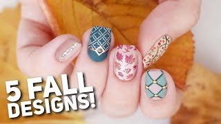 Download 5 Matte Nail Art Designs For FALL! 🍂 Video