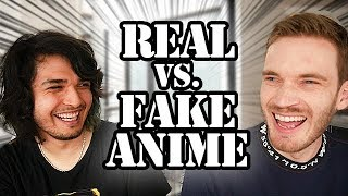 Download REAL VS. FAKE ANIME CHALLENGE (feat. PewDiePie) Video