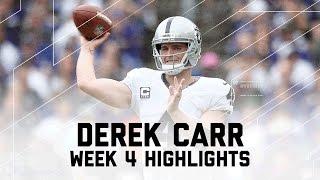 Download Derek Carr's Clutch 4 TD Game | Raiders vs. Ravens | NFL Week 4 Player Highlights Video