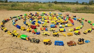 Download Learn Car Names With Car Toys For Children Excavator Road Roller School Bus Dump Truck Video