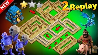 How To Smash This Popular Th12 Base Design Easily With Seige Machine