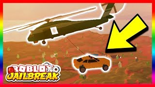 Download INSANE MILITARY HELICOPTER GLITCH! *PICK UP CARS!* (Roblox Jailbreak New Update) Video