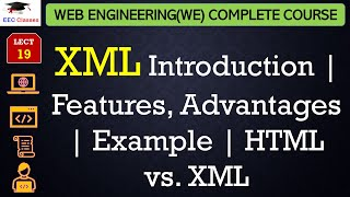 Download XML Introduction | Features, Advantages | Example | HTML vs. XML in Hindi Video