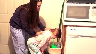 Download LITTLE GIRL THROWS UP ON CHRISTMAS MORNING! KIDS CHRISTMAS HAUL   DYCHES FAM Video
