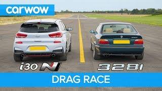 Download Hyundai i30N vs E36 BMW 328i - DRAG & ROLLING RACE & BRAKE TEST - can £2.8k beat £28k? Video