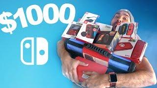 Download $1000 Nintendo Switch Accessories Haul Video