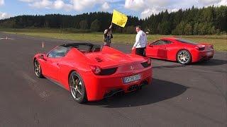 Download Ferrari 458 Italia vs Audi R8 V10 vs Ferrari 458 Spider! Video