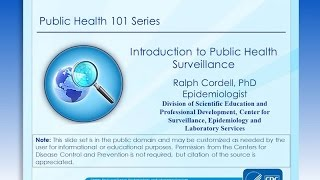 Download Introduction to Public Health Surveillance Video