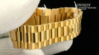 Download Rolex President DayDate 18k Solid Yellow Gold Dial Watch Mens 18038 Super Clean! Video