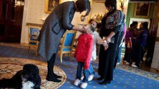 Download Raw Video: The First Lady Surprises Tour Visitors Video