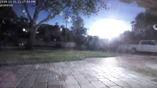 Download Fireball in the sky over Florida - November 21,2016 Video