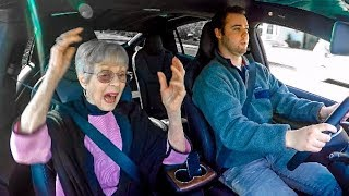 Download GRANDMA REACTS TO TESLA LAUNCH! Video