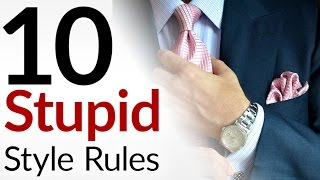 Download 10 STUPID Style Rules | Men's Fashion Tips That Make No Sense | Outdated Menswear Guidelines Video