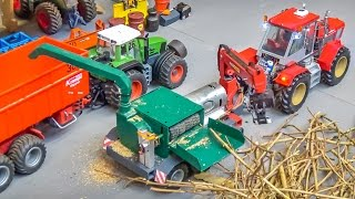 Download R/C tractor stone crusher and wood chopper in 1/32 scale! Hand made! Video