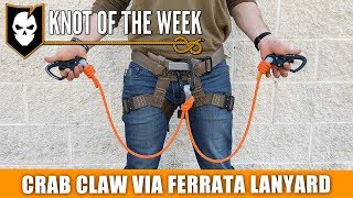 Download How to Tie a Crab Claw Via Ferrata Lanyard - ITS Knot of the Week HD Video