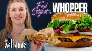Download Food Stylist Shows how to Make Fast Food Look Good | Food Stylist vs Whopper | Well Done Video
