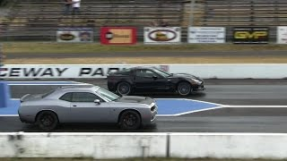 Download Hellcat battles ZR1 Corvette-1/4 mile drag races,the fastest Vette vs the fastest Dodge Video