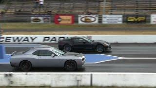 Download Hellcat battles ZR1 Corvette-1/4 mile drag races,the fastest Vette vs the fastest Dodge Video