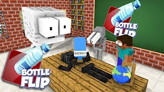 Download Monster School : EPIC BOTTLE FLIP CHALLENGE - Minecraft Animation Video