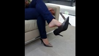Download Public Shoeplay | Dangle Heels in the Mall Video
