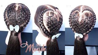 Download Peinado para niña / trenza de corazón tejido con mallas #peinadosparaniña Video