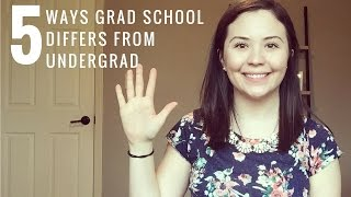 Download 5 Ways Grad School Differs from Undergrad Video