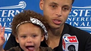 Download Riley Curry steals the press conference Video