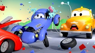 Download Tom The Tow Truck and Katie The Kit Car in Car City | Cars & Truck construction cartoon for children Video