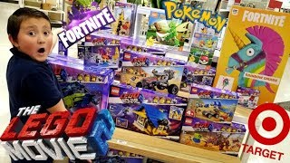 Download HUNTING NEW TOYS AT TARGET FOR THE NEW YEAR! HUGE HAUL! FINDING LEGO MOVIE, POKEMON & FORTNITE TOYS! Video